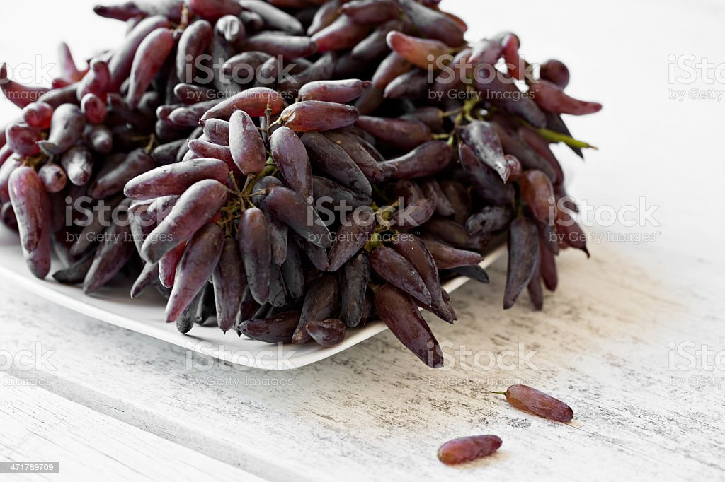 Witch Finger Grapes stock photo