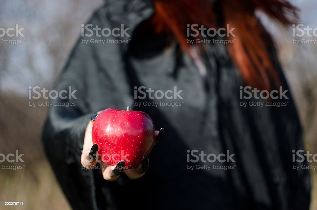 Witch from fairy tale Snow White stock photo