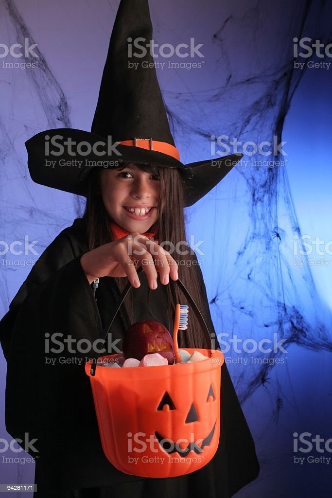 Witch in Halloween Party royalty-free stock photo
