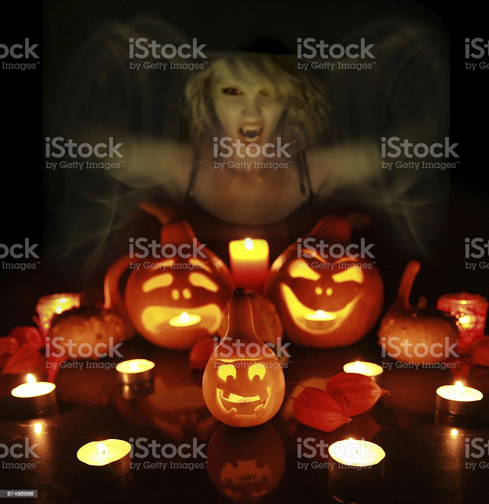 witch macking triсks royalty-free stock photo