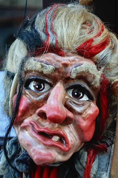 Máscara de bruja - foto de stock