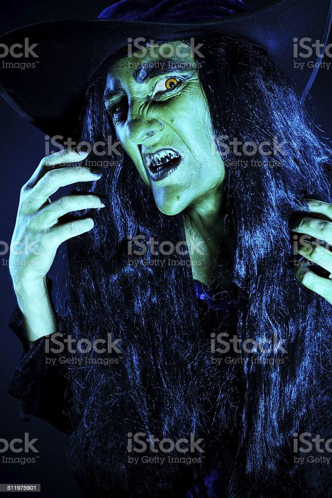 Retrato de bruja - foto de stock