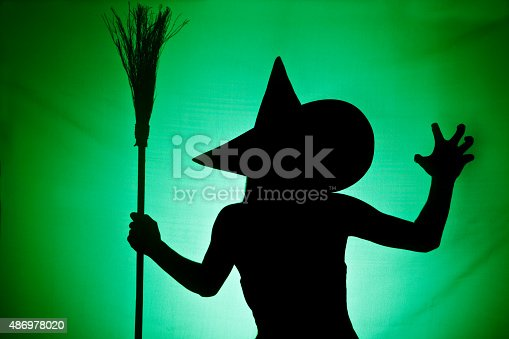 istock Witch Silhouette 486978020