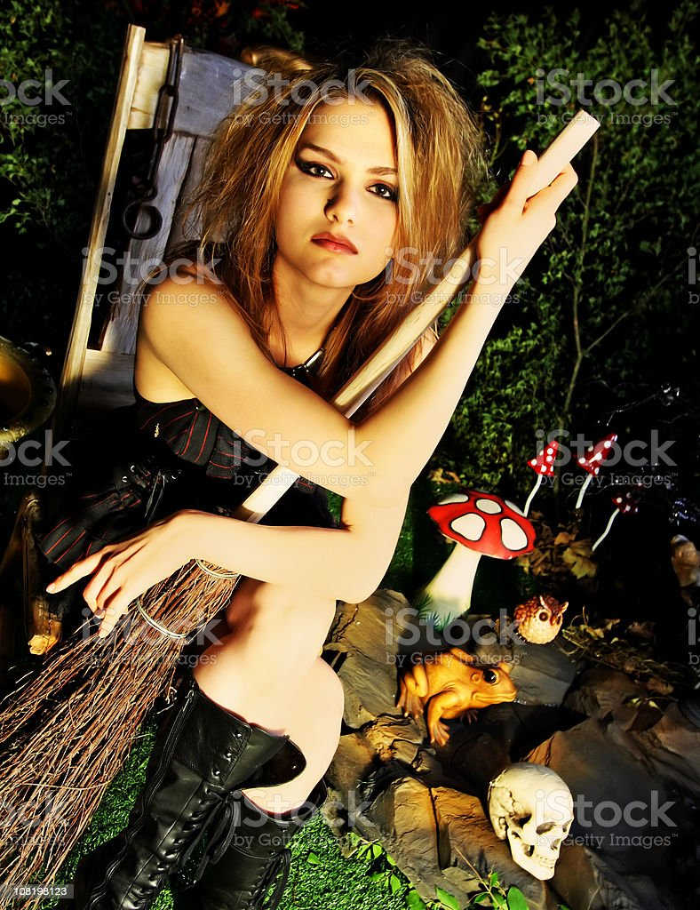 witch with attitude stock photo