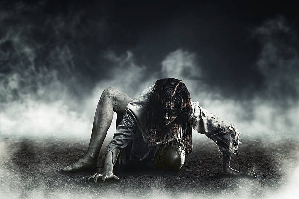 witch zombie - demon stock photos and pictures