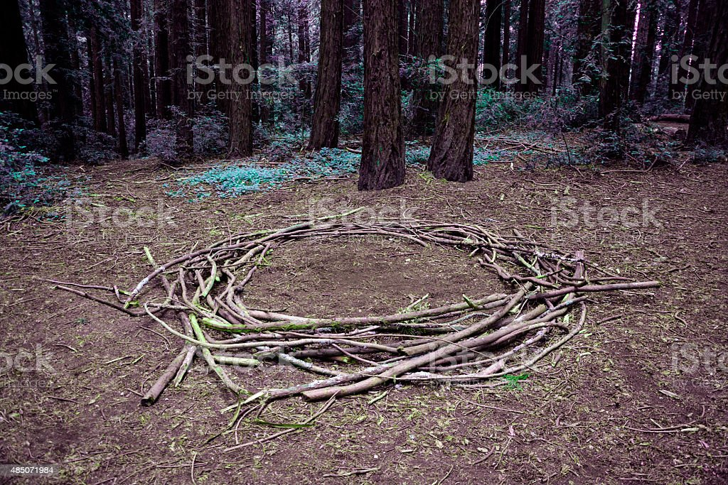 Witches Circle stock photo