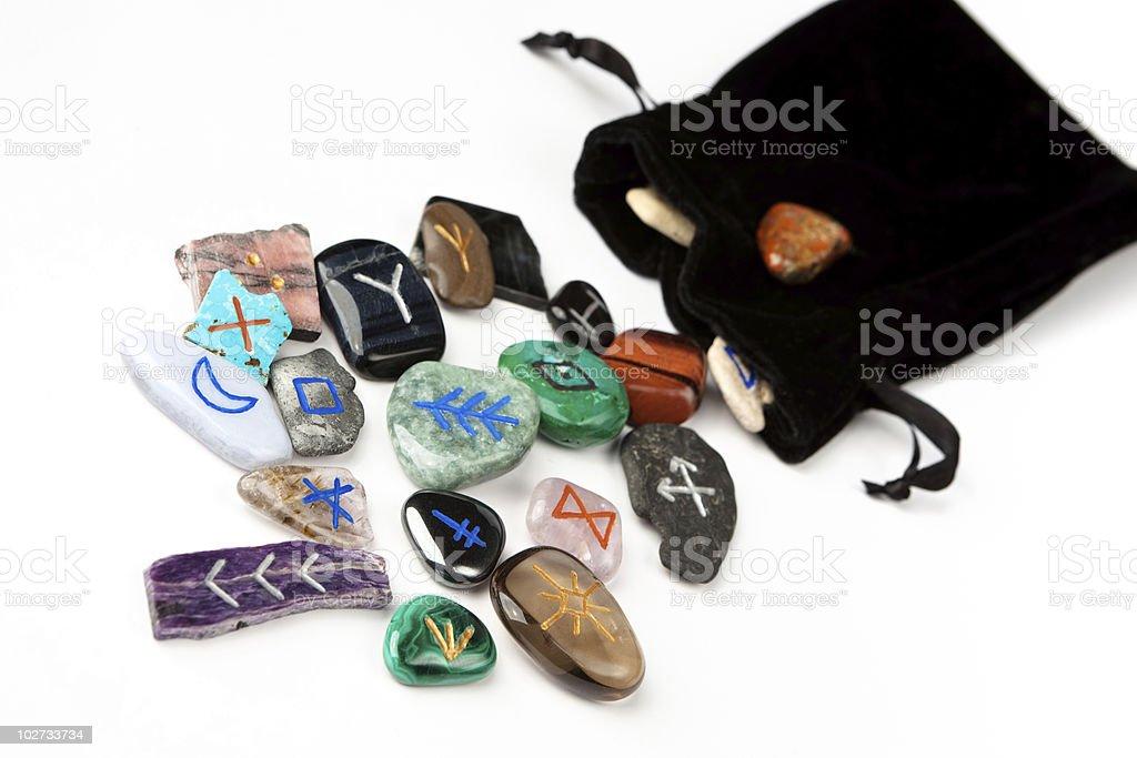 Witches runes stock photo