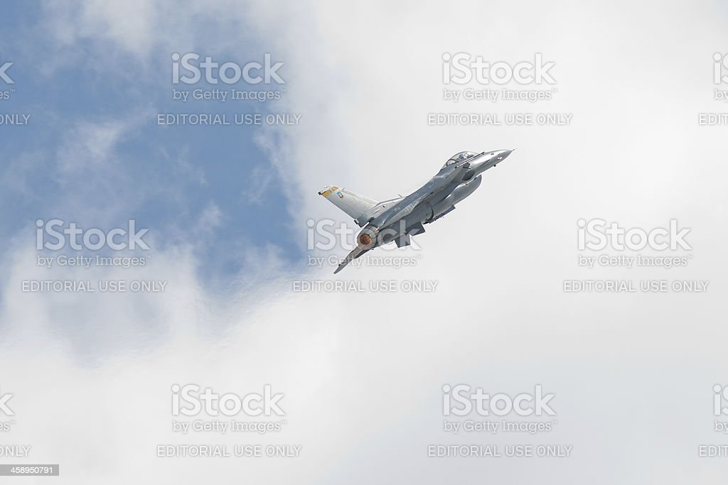 F-16 With Afterburner royalty-free stock photo