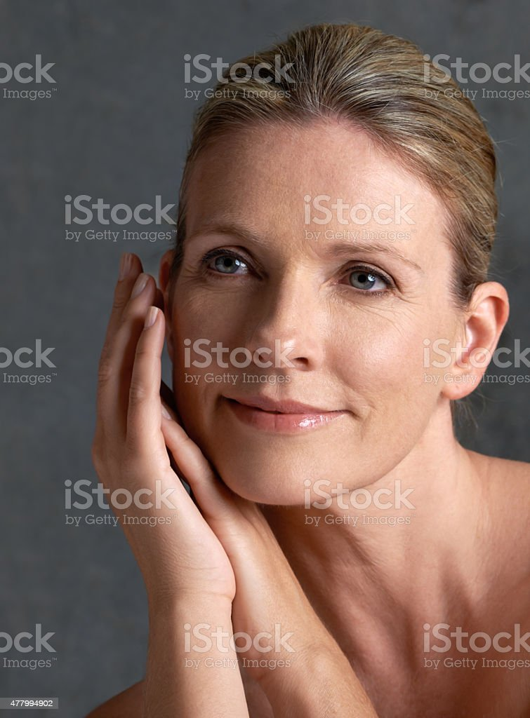With age comes ageless beauty stock photo