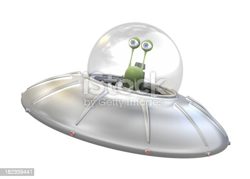 istock UFO with alien 182359441
