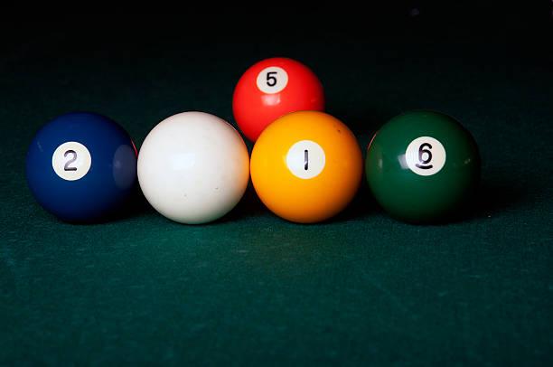 2016 with billiard balls stock photo