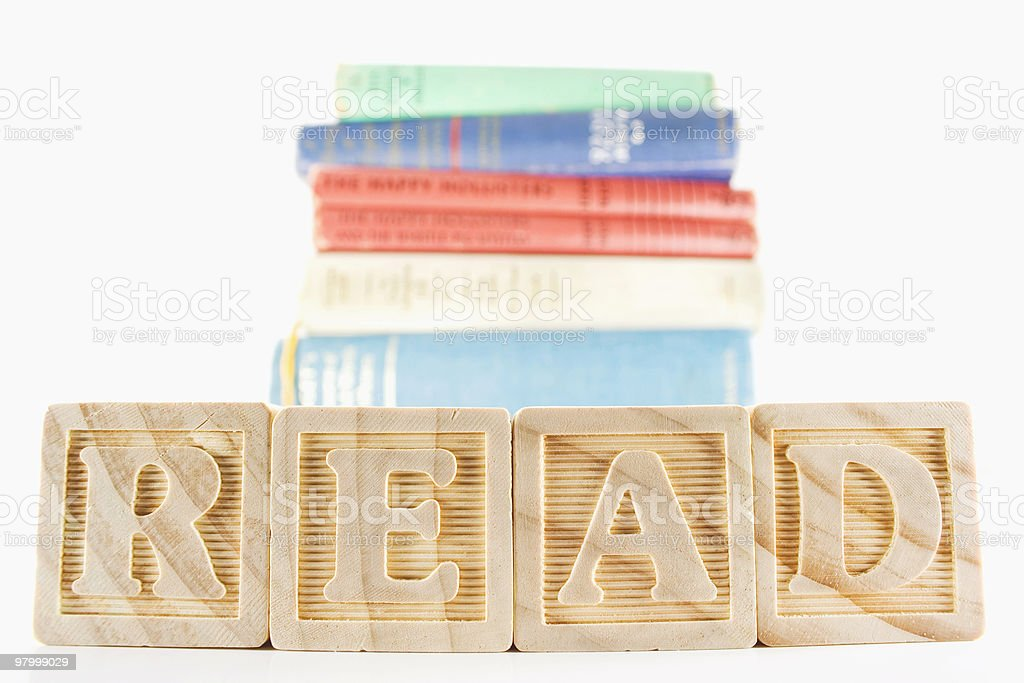 READ with books - clipping path royalty-free stock photo
