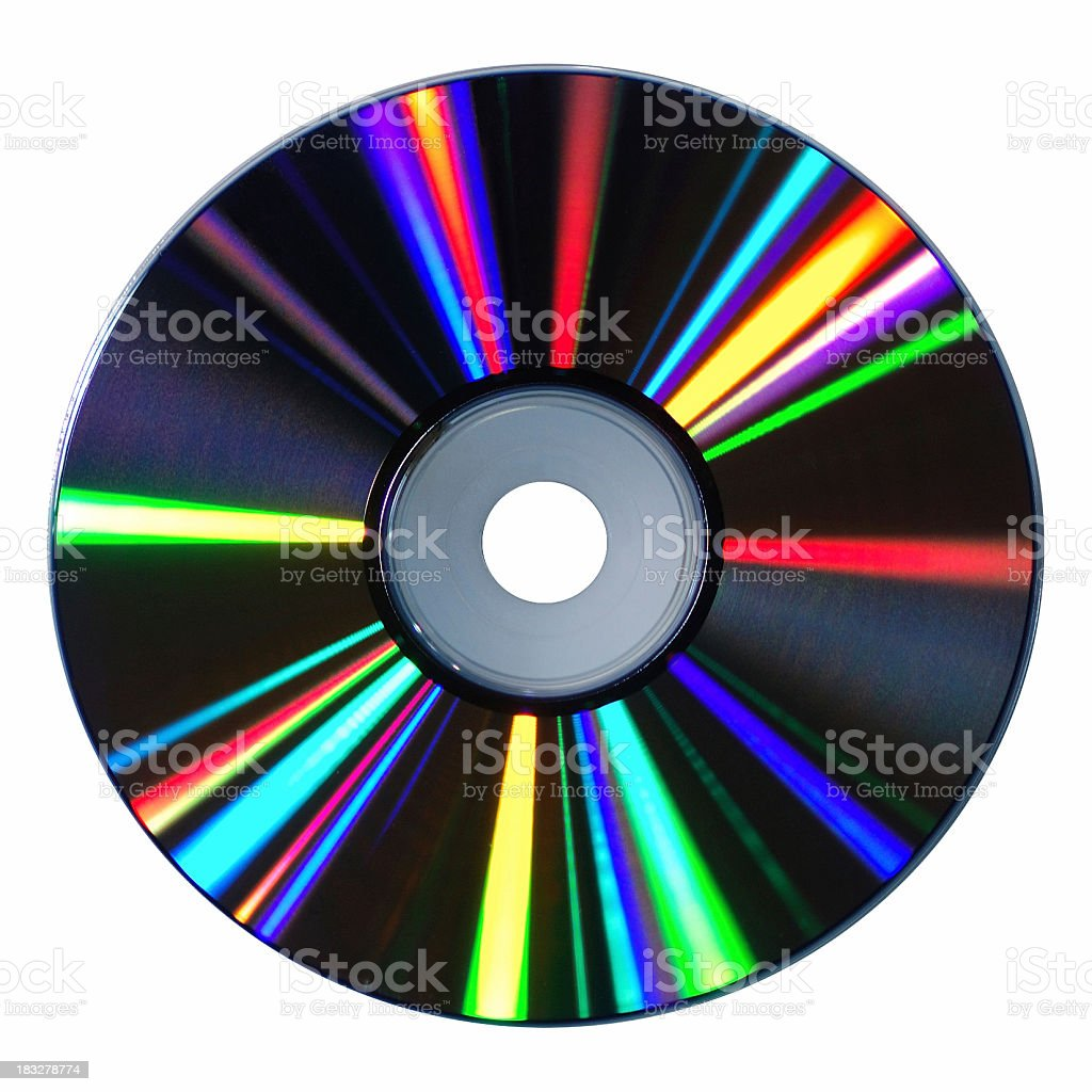 CD With Brilliant Reflections royalty-free stock photo