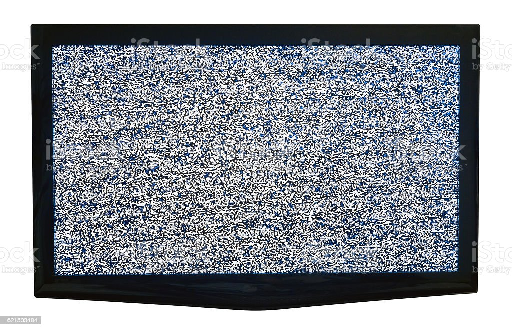 TV with cable out. Isolated on white. Lizenzfreies stock-foto