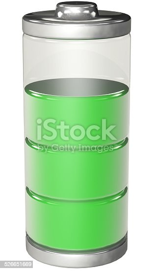istock with charged battery 526651669