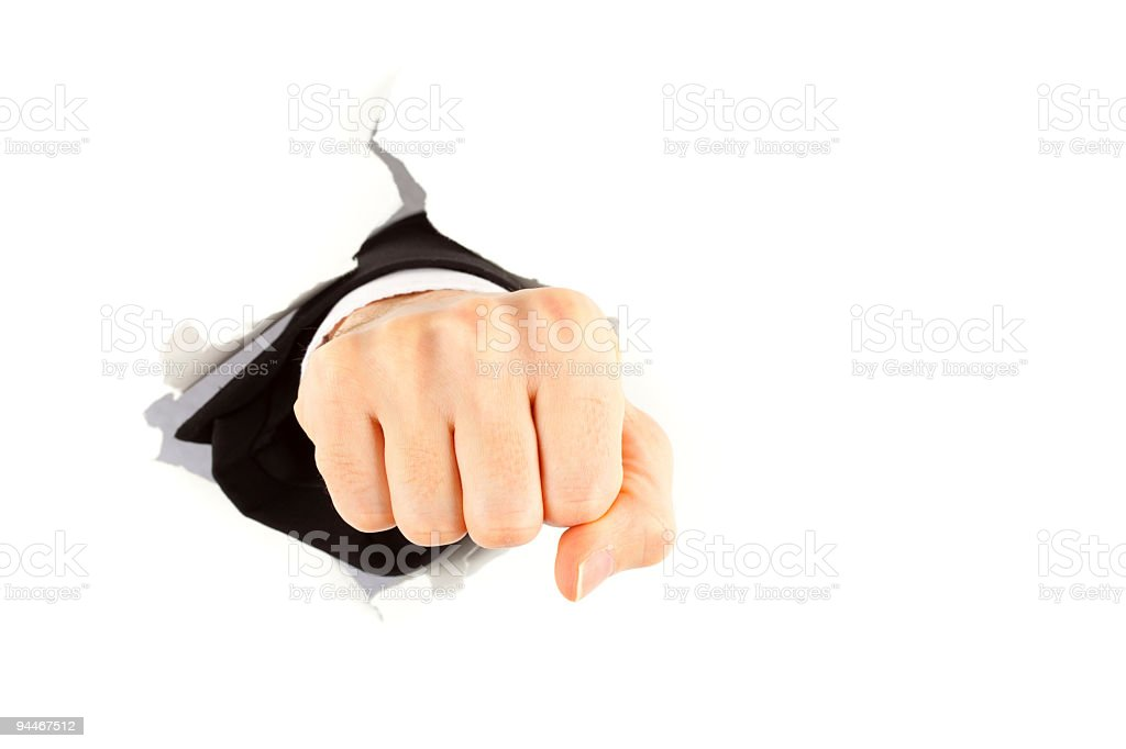with clenched fist royalty-free stock photo