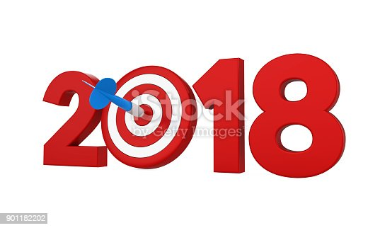 istock 2018 with Darts Target Isolated 901182202