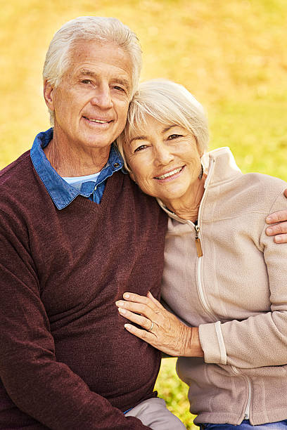 With each passing year our love grows stronger stock photo