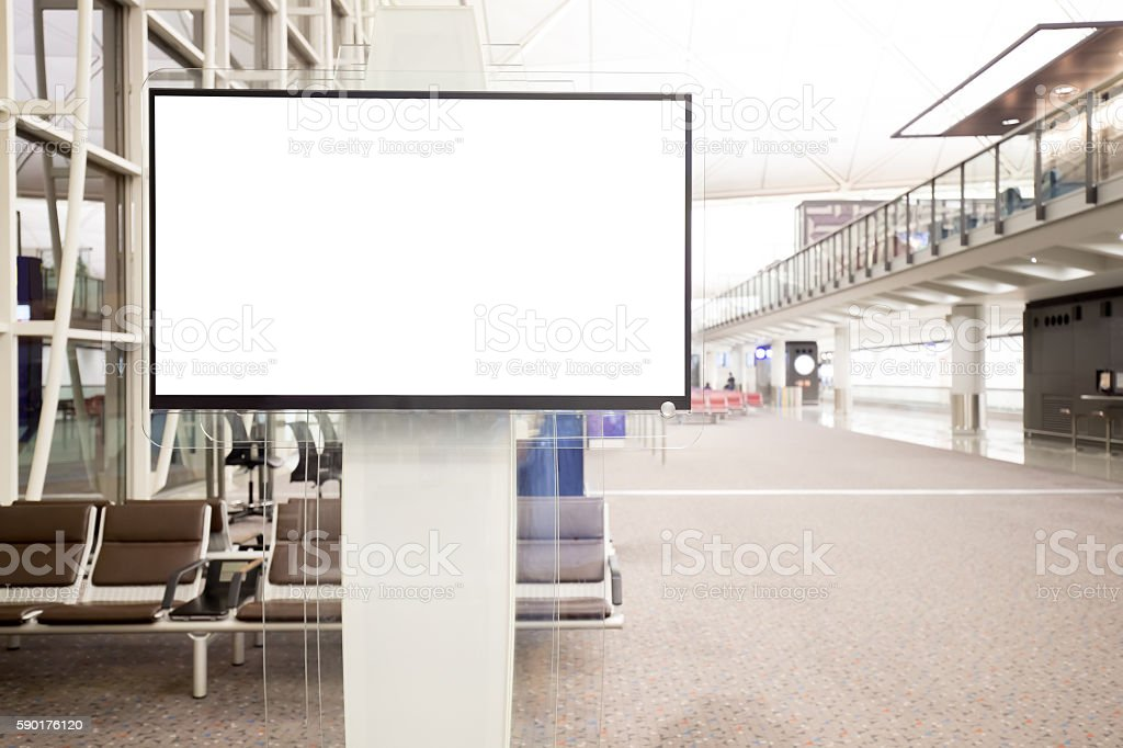 LCD TV with empty copy space stock photo