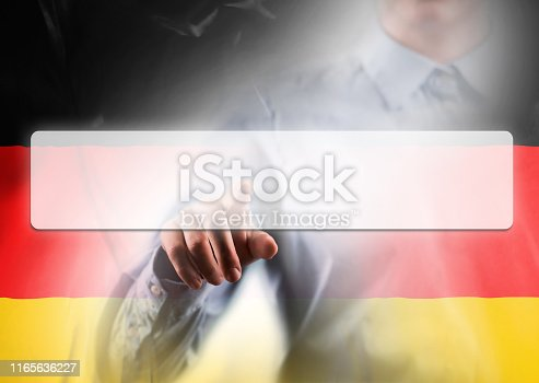 TOUCH SCREEN BUTTON with empty space for TEXT and GERMANY FLAG / Flag concept (Click for more)