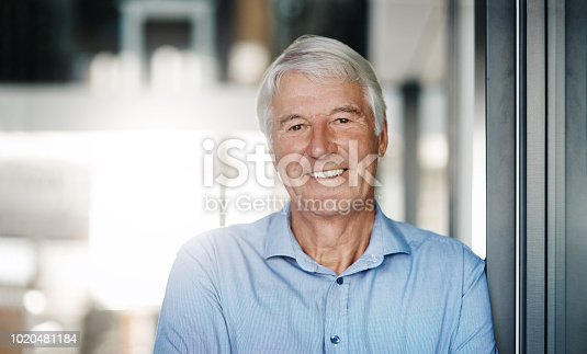 Portrait of a senior businessman in the office