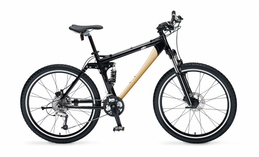 Mountain Bike With Full Clipping Path