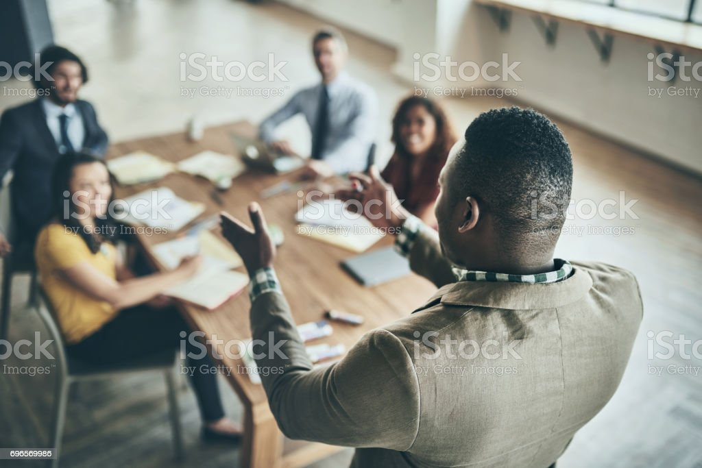 With great leadership comes great responsibility stock photo