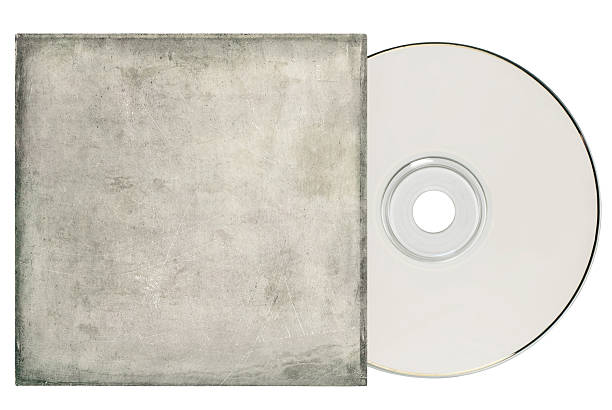 DVD with Grungy Sleeve stock photo