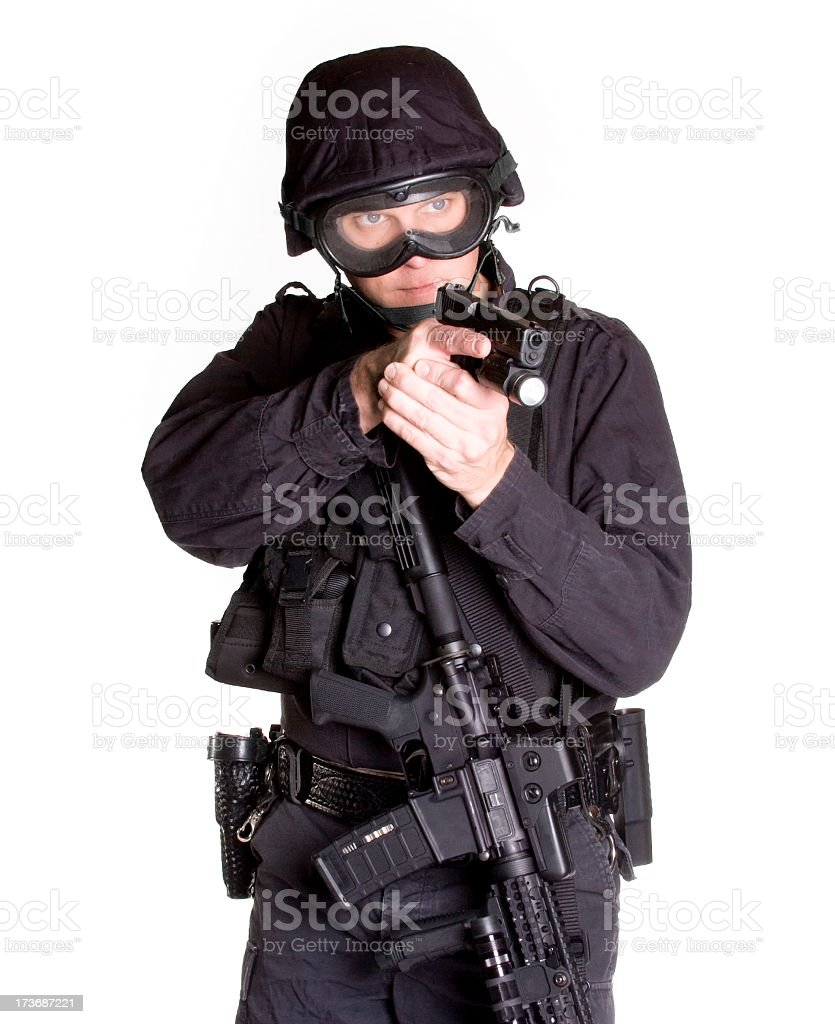 SWAT with Handgun stock photo