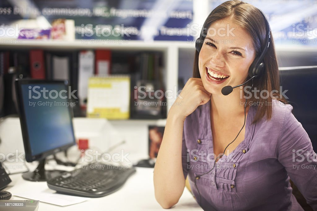 With her, you always get the best service possible stock photo