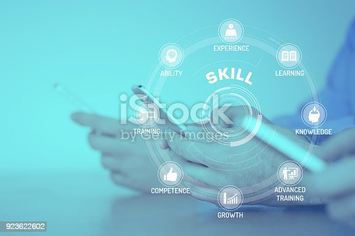 istock SKILL CONCEPT with Icons and Keywords 923622602