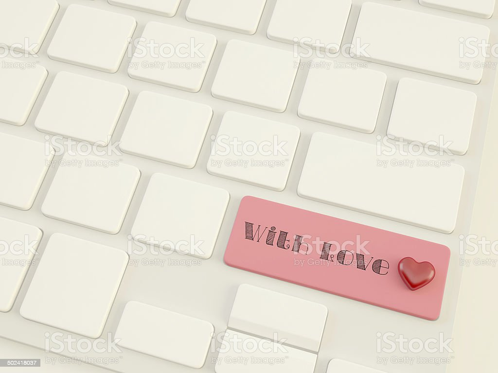 with love, heart on shift  key royalty-free stock photo