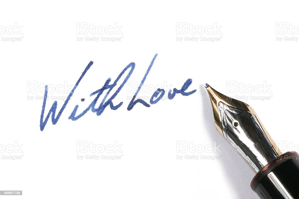 With love writing royalty-free stock photo