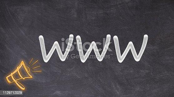 istock WWW with megaphone written on blackboard 1129712029