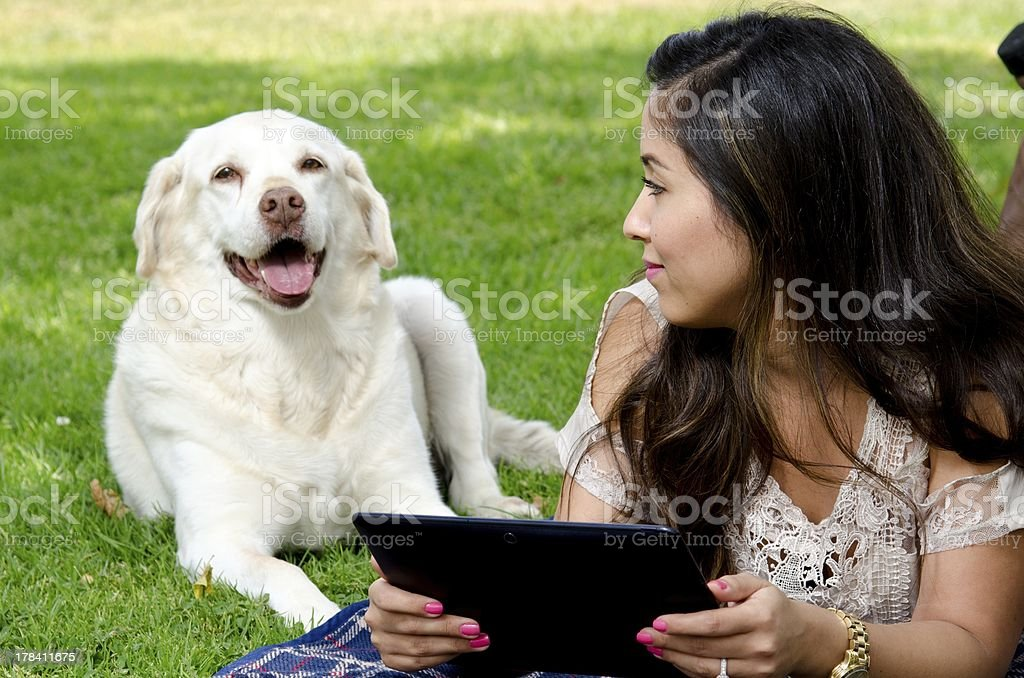 with my pet royalty-free stock photo