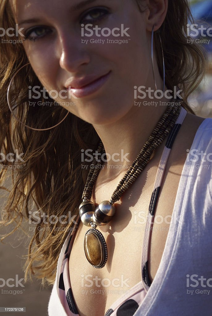 With necklace royalty-free stock photo