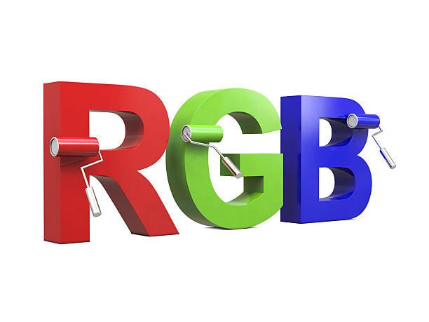 rbg with paint rollers - rbg stok fotoğraflar ve resimler