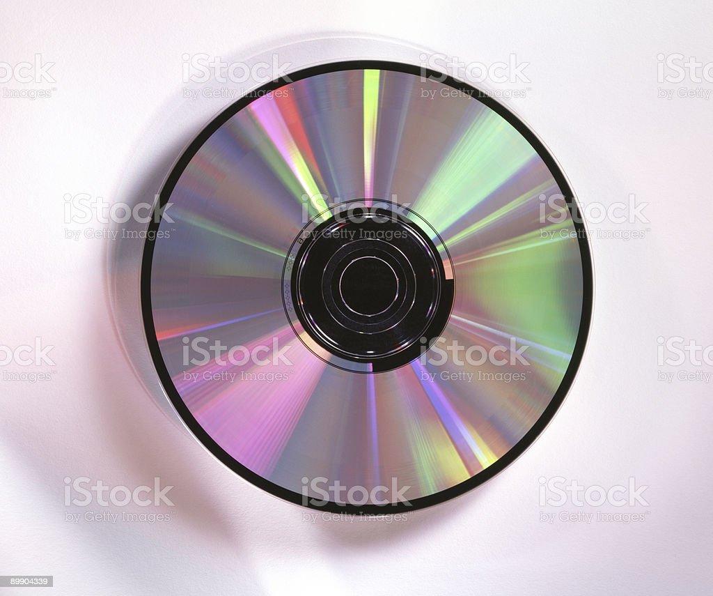 CD mit Regenbogen Lichter 4 x 5-Film Lizenzfreies stock-foto