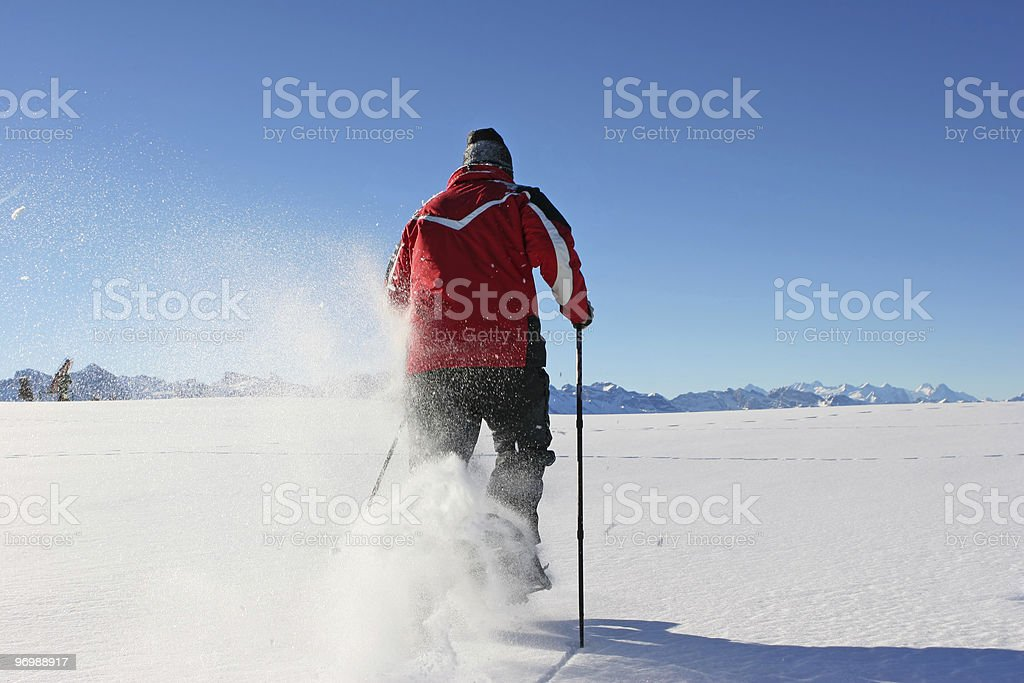 With Snowshoes stock photo