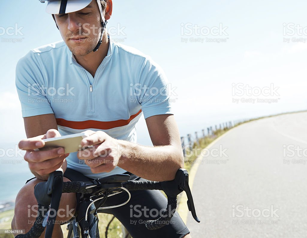 With technology I can talk to anyone, anywhere royalty-free stock photo