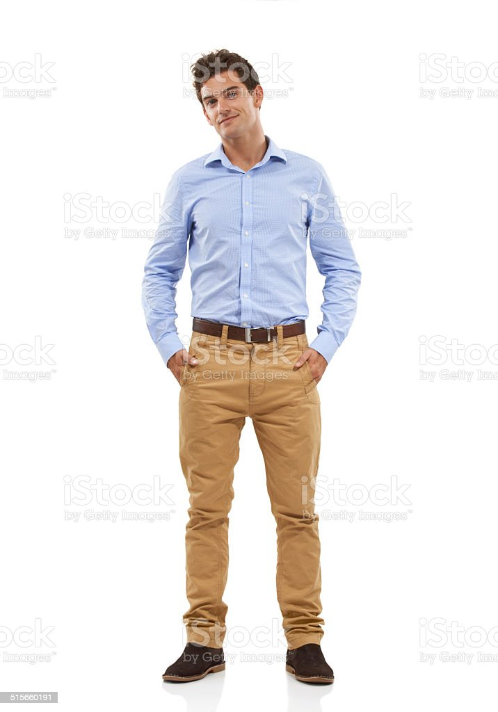 With the confidence to pull it off stock photo