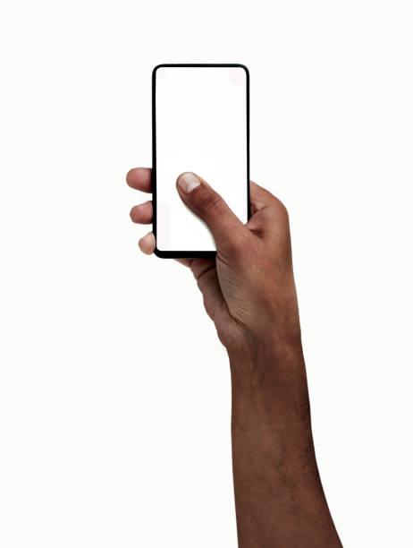 전화가 연결 된 상태에서 - hand holding phone 뉴스 사진 이미지