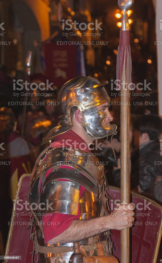 With the spear royalty-free stock photo
