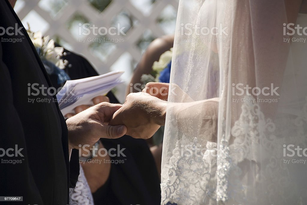 With this ring... royalty-free stock photo
