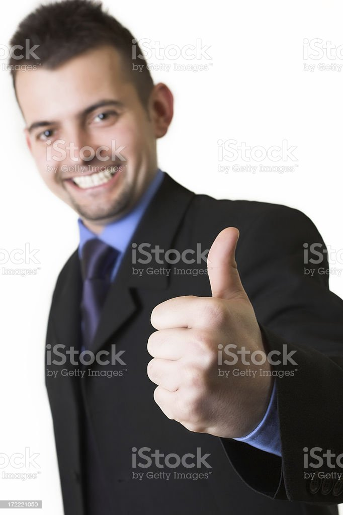 OK! with thumb up royalty-free stock photo