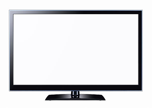 TV With Two Clipping Paths stock photo