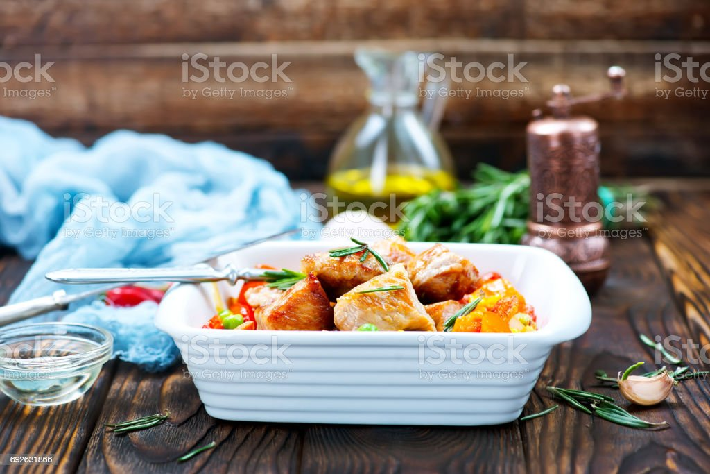 with vegetables stock photo