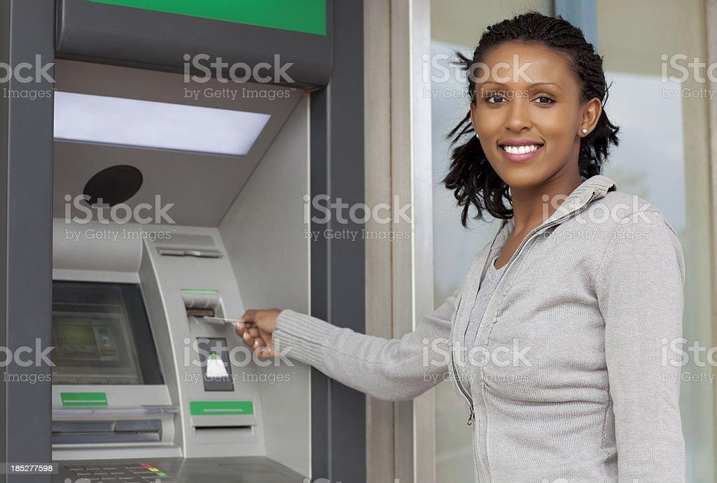 Withdraw cash money. stock photo