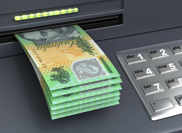 Withdrawal Australian Dollar stock photo