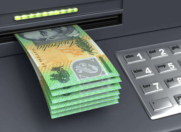 Withdrawal Australian Dollar stock photo